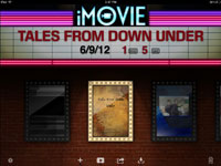 The iMovie for iPad home screen.