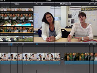 You can add music and transitions to your iMovie project.