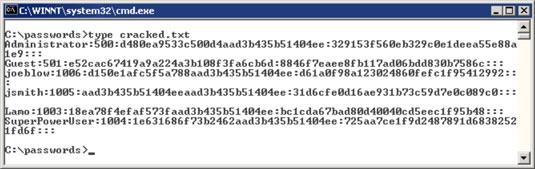 crack password txt file