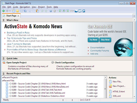 How to Create a New JavaScript File in Komodo Edit - dummies