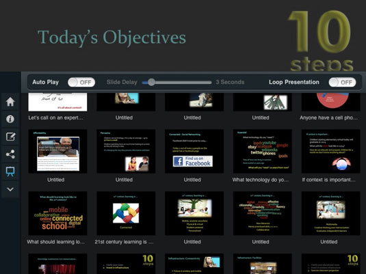 present educational powerpoint presentations using slideshark ipad