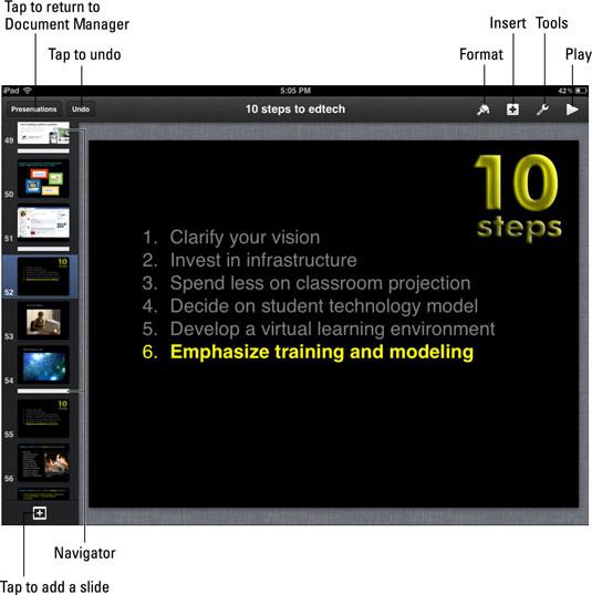 how to make a keynote presentation on ipad