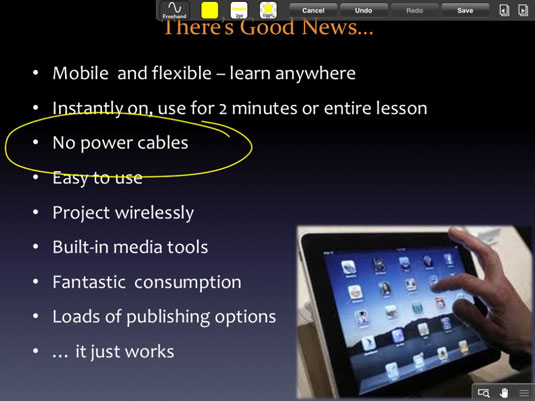 present educational powerpoint presentations using goodreader ipad