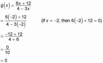 Finding the x-intercept of an equation.