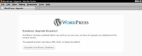 The WordPress upgrade notification page.