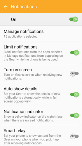 Notification Options on Your Gear S2 - dummies
