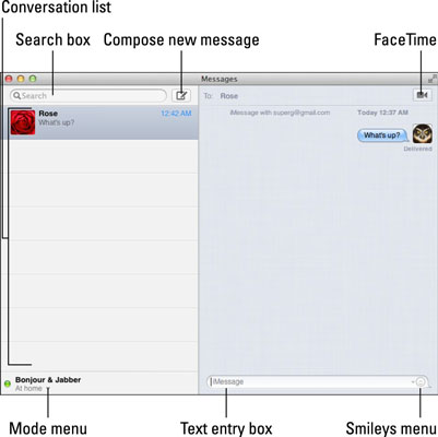 How to Use MacBook Messages - dummies