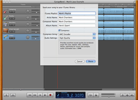 How to Create MP3, AAC Files and Ringtones with GarageBand on