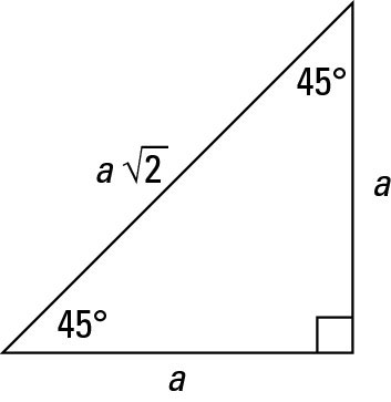 How To Work With 45 45 90 Degree Triangles Dummies