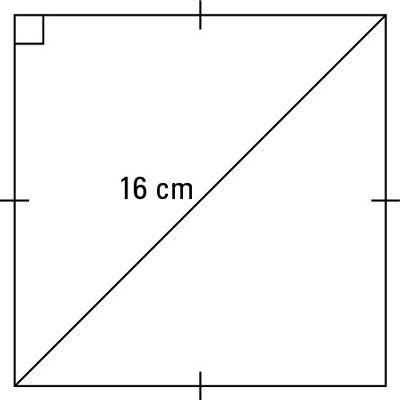 A square with a diagonal.