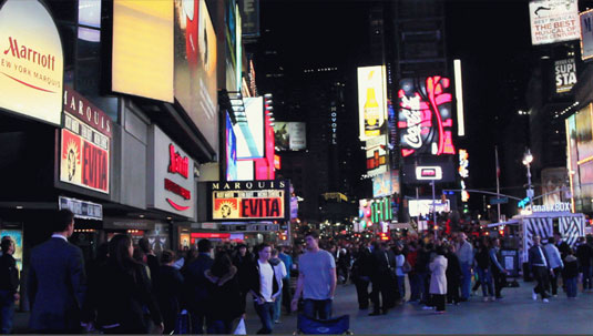 The background noise in places like Times Square, in New York City, may affect the quality of the shoot.