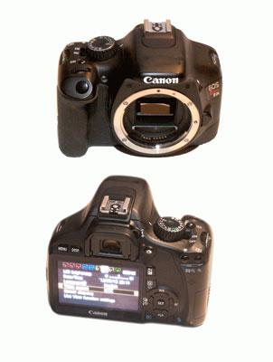 Body of a Canon DSLR camera.