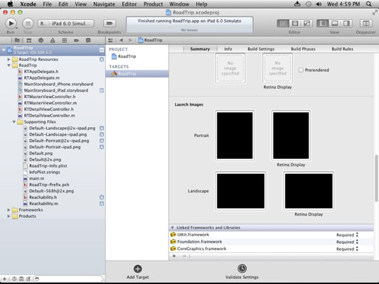 The Xcode workspace.