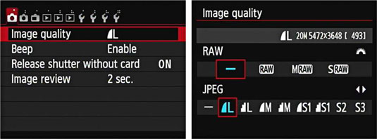 How To Choose File Format Image Size And Quality On Your