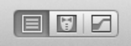 These buttons allow you to show or hide sections of the Xcode workspace.
