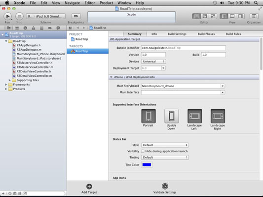 Overview of the Project Editor in Xcode - dummies