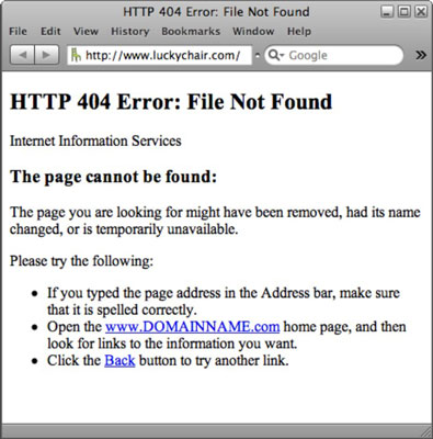 How to Create Custom 401 and 404 Error Pages for Your Website - dummies