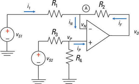 analyze a unique inverting op amp  an op amp subtractor