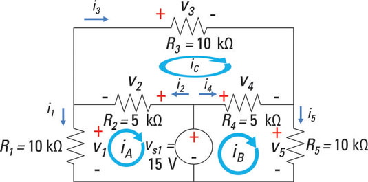 The mesh current method for analysis of electric circuits | eep.