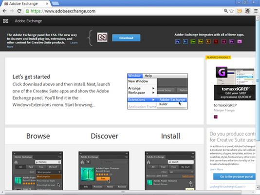 Visit the Adobe Extension site to add Dreamweaver extensions.