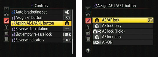 You can set the AE-L/AF-L button to lock autoexposure only.