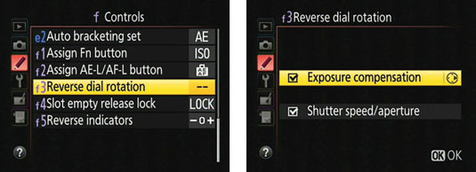 For people who like to go left when everyone else goes right, the Reverse Dial Rotation option reve