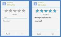 Rate & Review section allows you to leave feedback and rate the service.