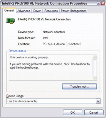 Network Connection Configuration: Windows XP - dummies