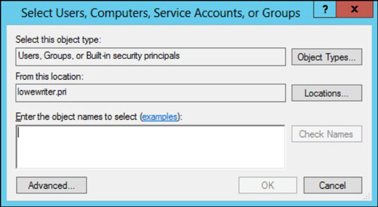 Network Administration: Granting Share Permissions - dummies