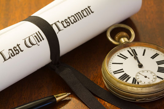 A last will statement and a pocket watch.