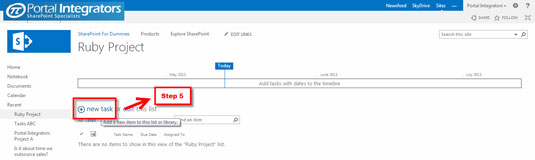 How To Create Task Lists With Gantt Chart View In Sharepoint 2013 Dummies