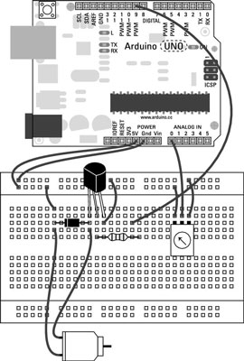 How to Control the Speed of a DC Motor with the Arduino