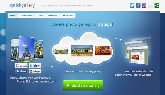 The Quick Gallery plugin works with multiple blog platforms