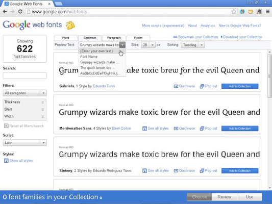 How to Use Custom Fonts from the Google Web Fonts Site in