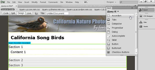 How to Create Collapsible Panels with jQuery in Dreamweaver - dummies
