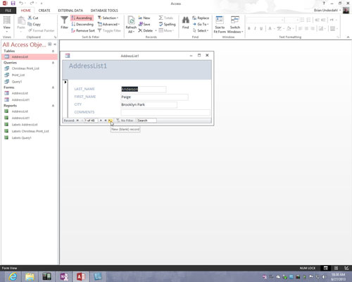 how to create a navigation form in access 2013