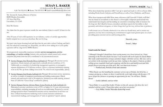 resume letters for returning moms