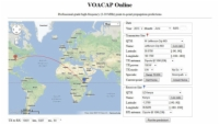 Voacap Online with a propagation prediction
