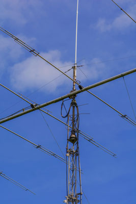 A radio antenna.