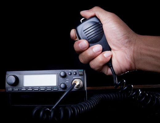 A ham radio.