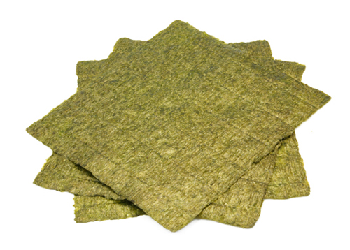 Nori is the dried seaweed paper commonly used in sushi. [Credit: ©Ever, 2008]