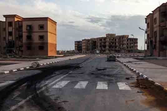 Some Libyan cities, such as Tawergha, are now ghost towns after the revolution. [Credit: ©Kari