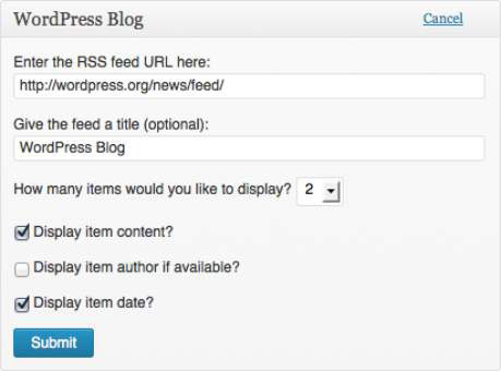 The WordPress Blog and Other WordPress News modules