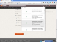 Klout Perks homepage with the notifications menu open.