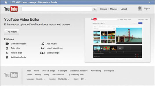 YouTube also has a free tool for basic editing and enhancement called YouTube Video Editor.