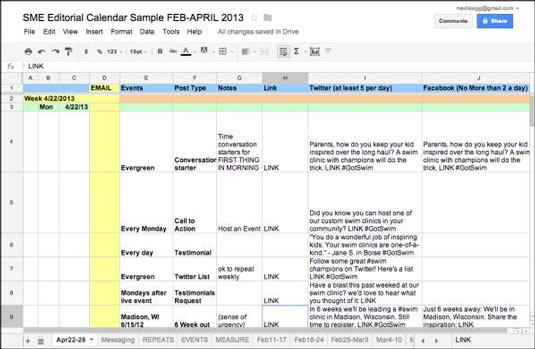 Maintaining An Editorial Calendar For Blog Posts And Campaigns Is Also Useful