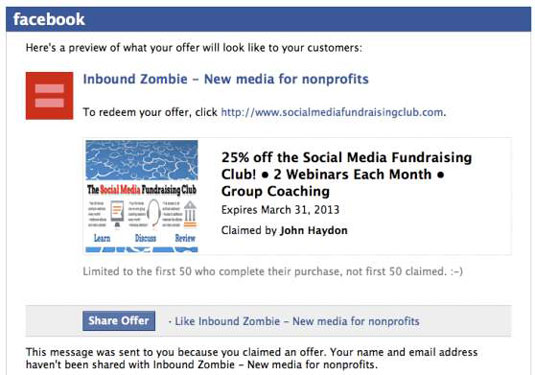 How to Create an Offer for Your Facebook Business Page - dummies