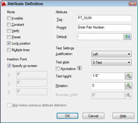 How to Create Attribute Definitions in AutoCAD 2014 - dummies