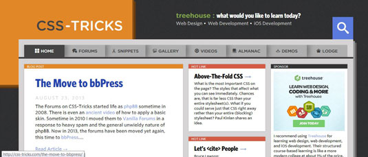 CSS-Tricks website is curated by Chris Coyier.