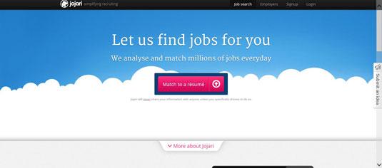 Jojari.com uses your LinkedIn profile to search for jobs.